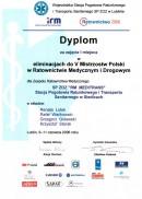 Dyplom za zajęcie I miejsca w eliminacjach do V Mistrzostw Polski w Ratownictwie Medycznym i Drogowym